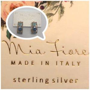 Mia Fiore 925 Hand painted Enamel Hoop Earrings